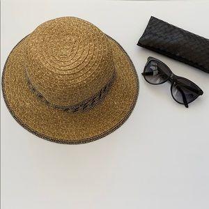 Apt 9 Woven Straw Floppy Brim Sun Hat
